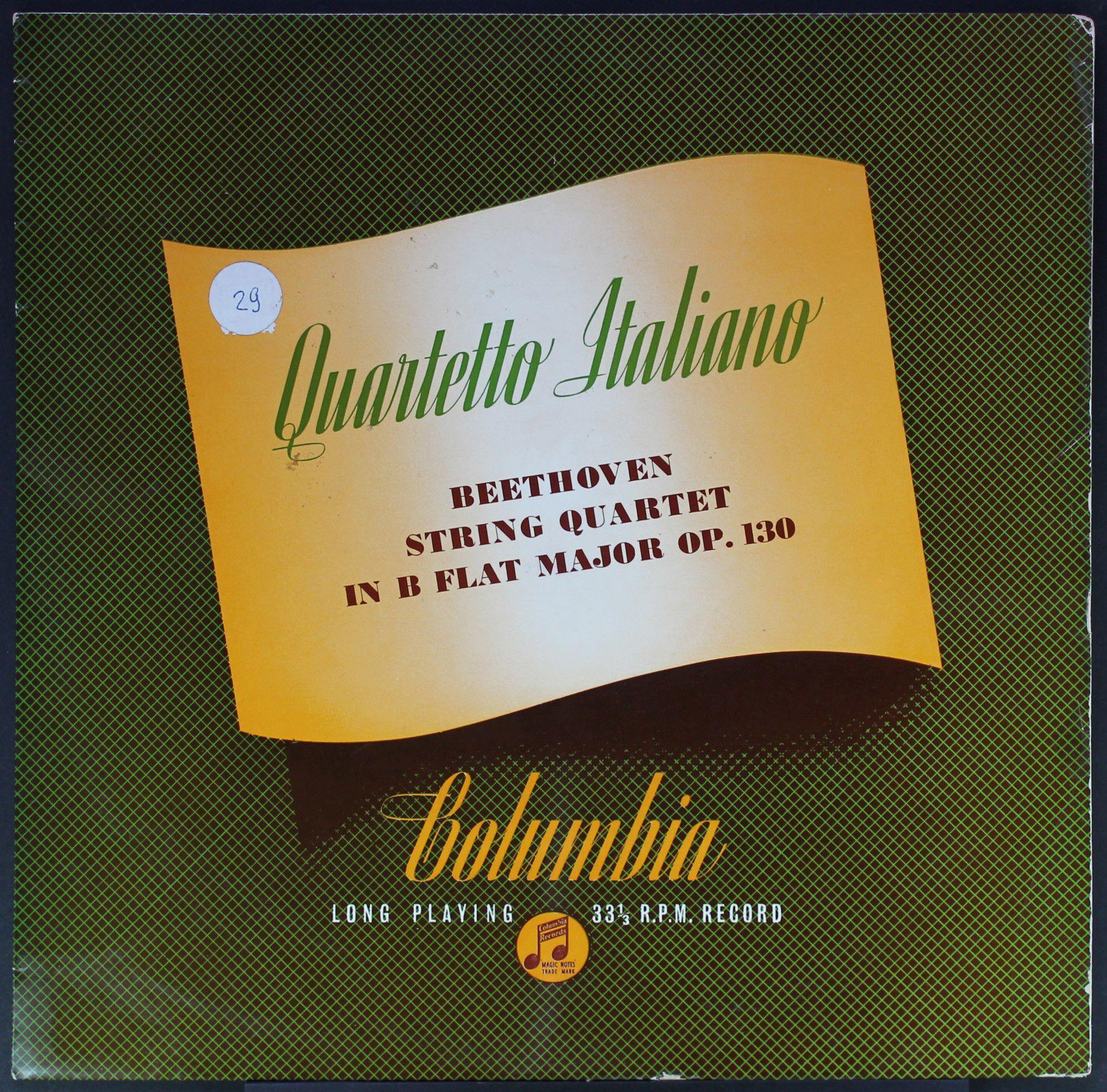 Quartetto Italiano | Beethoven - String Quartet In B Flat Major, Op. 130 - 33T