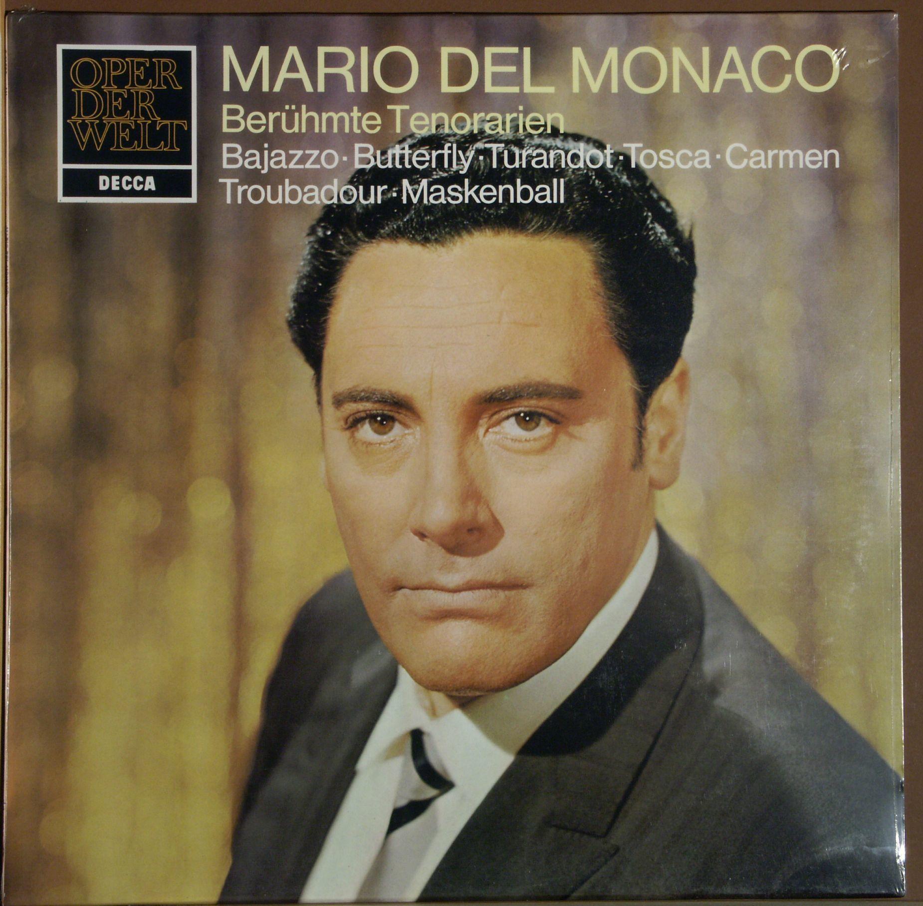 del Monaco, Mario | Bizet | Verdi | Puccini, Giaco - Mario Del Monaco, Berühmte Tenorarien - 33T